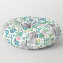 Floral Koala Floor Pillow