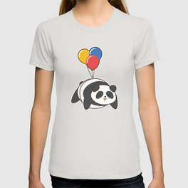 Panda at Birthday with Ballon T-shirt