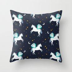 Space Pegasus Throw Pillow