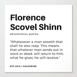 32 | Florence Scovel Shinn Quotes | 200126 Canvas Print