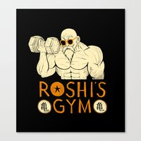 gym Canvas Prints featuring roshi's gym by Louis Roskosch