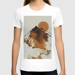 abstract mountains, rustic orange sunrise T-shirt