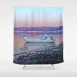 Viking Ice Ship Portrait Shower Curtain