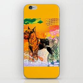 Schnauzer pop art iPhone Skin