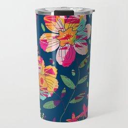 Paper Floral Travel Mug