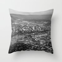portland Throw Pillows featuring Portland by Erik Graham Photography