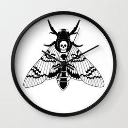 Death Head Moth Wall Clock