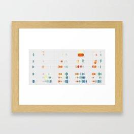 Fish Move Framed Art Print