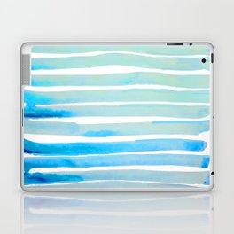 New Year Blue Water Lines Laptop & iPad Skin