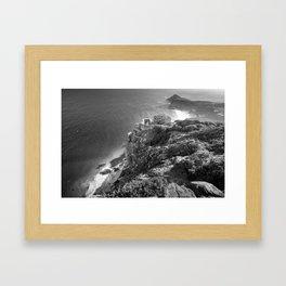 Cliffs along Cape Point, South Africa Framed Art Print