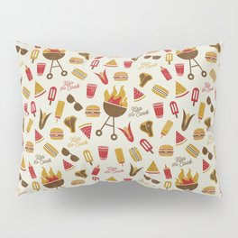 Kiss the Cook Summer BBQ Pillow Sham