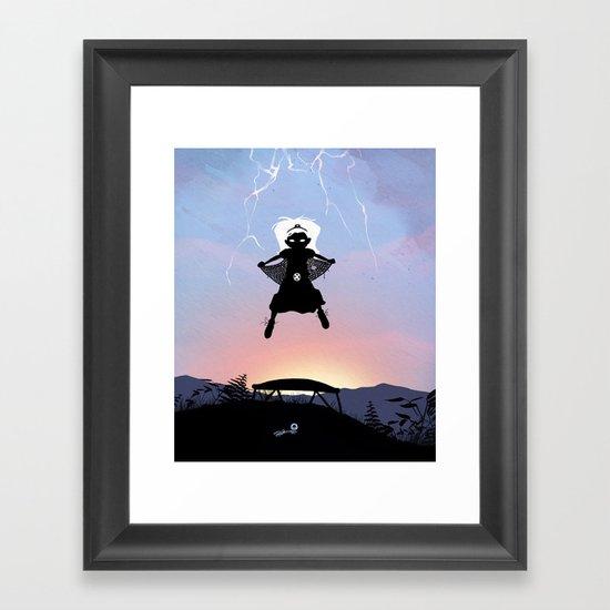 Storm Kid Framed Art Print