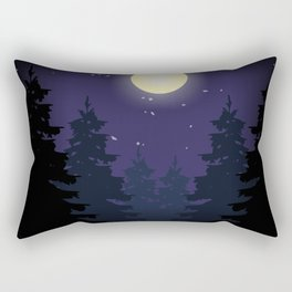 Forest On Moonlit Night #society6 #decor #buyart #artprint Rectangular Pillow