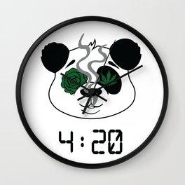 4:20 Panda (4/20 Edition) Wall Clock
