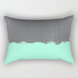 Mint Paint on Concrete Rectangular Pillow