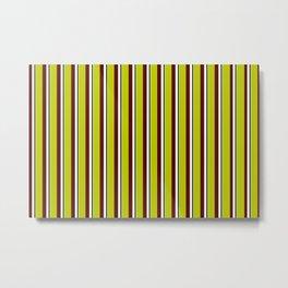 Lemon Stripes of Summer Metal Print