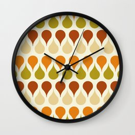 Pastel vintage 60s color drop pattern Wall Clock