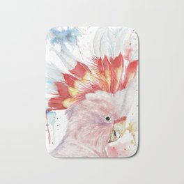 "Watercolor Painting of Picture ""Inca Cockatoo"" Bath Mat"