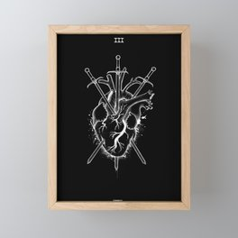 Three of Swords Framed Mini Art Print