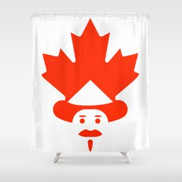 Unique Canadian man icon Shower Curtain