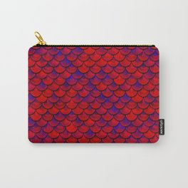 Red Purple Scales Carry-All Pouch