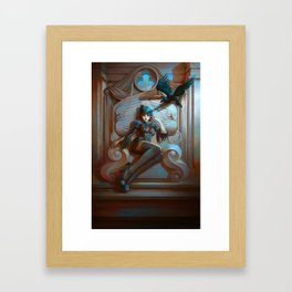 Queen of Clubs Framed Art Print
