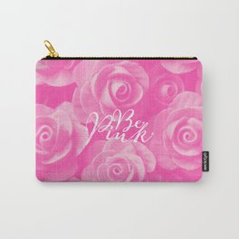 Girly Chic Be Pink Roses Floral Pattern  Carry-All Pouch