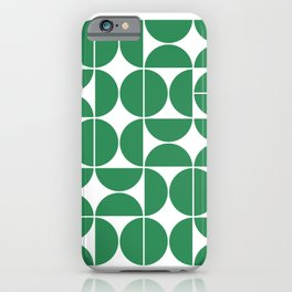 Mid Century Modern Geometric 04 Green iPhone Case