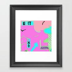 Exit in hot pink Framed Art Print