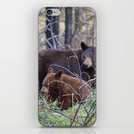 Sow & cub in Jasper National Park | Canada iPhone Skin