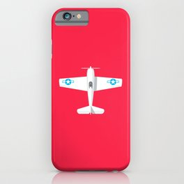 F6F Hellcat WWII Fighter Aircraft - Crimson iPhone Case