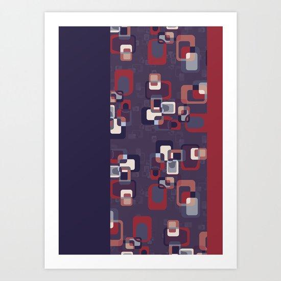Groovy Squares Art Print