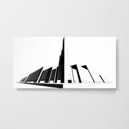 Perspective Line Drawing Metal Print