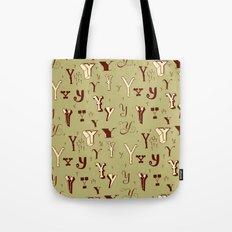 Letter Patterns, Part Y Tote Bag