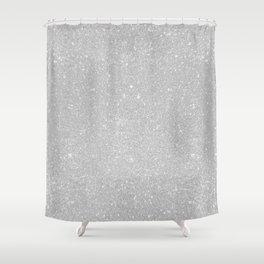 Pastel Grey Glitter Shower Curtain