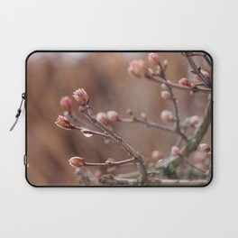 New Life -  Fresh Spring Buds after rain, Rose and earth tones, Nature Photography Macro Laptop Sleeve