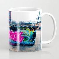 grafitti Mugs featuring Amazed Grafitti by Squint Photography