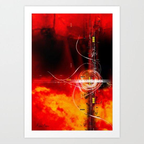 Flaming Texture Art Print