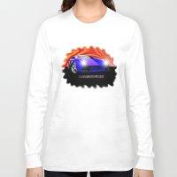 lamborghini Long Sleeve T-shirts featuring Lamborghini Gallardo (2) by JT Digital Art