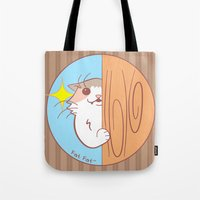 fat Tote Bags featuring Fat Fat Peeks by Fat Fat