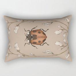 The Ladybug and Sweet Pea Rectangular Pillow