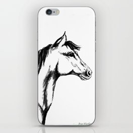 'Another Horse Profile' by Ave Hurley iPhone Skin