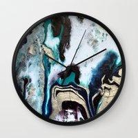 orca Wall Clocks featuring Orca by Lauren Yonenson