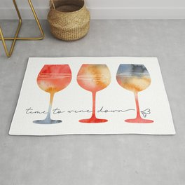 Time to Wine Down Watercolour Rug