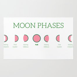 Watermelon Moon Phases Rug
