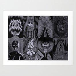 Realms of Horror Art Print