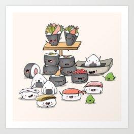 Kawaii Sushi Art Print
