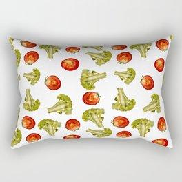 Broccoli and tomato Rectangular Pillow