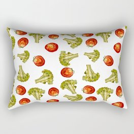 Broccoli and tomato Rectangular Pillow