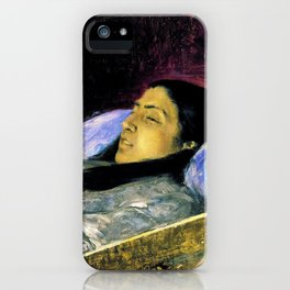 Miss Del Castillo On Her Deathbed - Digital Remastered Edition iPhone Case